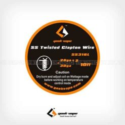 Bobina SS316L Twisted Clapton 28GAx2 + 30GA (10 m) – Geekvape