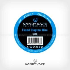 Bobina Fused Clapton Ni80 28AWGx2 + 35AWG (3 m) – Vandyvape