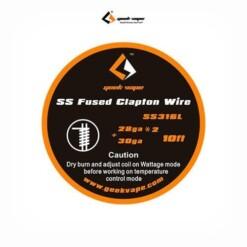 Bobina SS Fused Clapton 26GA + 30 GA (3 m) – Geekvape