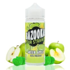 Bazooka Sour Straws Green Apple 100ml