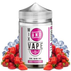 iced strawberry ml mix and vape by mad alchemist