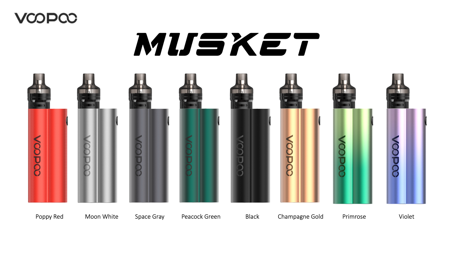 Kit Musket Voopoo 120W + PnP Pod Tank Colores